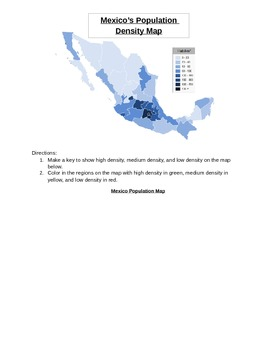 Creating  A Population Map
