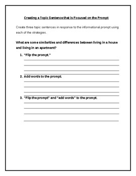 Creating A Topic Sentence Model and Practice