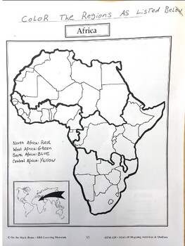Creating Africa Physical Maps