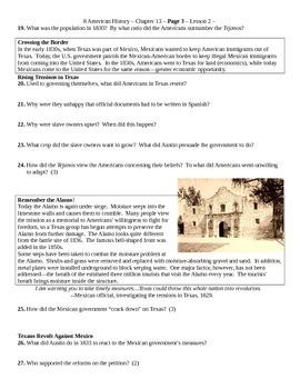 Creating America Ch 13 Manifest Destiny 2 The Texas Revolution