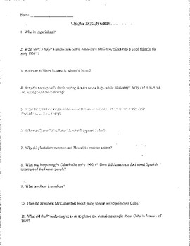 Creating America Chapter #23 Study Guide, Test, and Answer Key