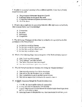 Creating America - Chapter #9/10 Assessment