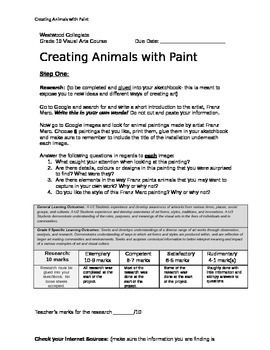 Creating Animals with Paint
