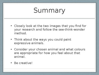 Creating Animals with Paint PowerPoint Presentation