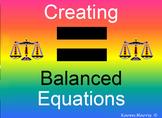 Creating Balanced Equations - Algebraic Thinking