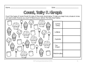 {Grades 1 & 2} Creating Bar Graphs Activity Packet