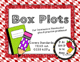 Box Plots Interactive Notes & Worksheet