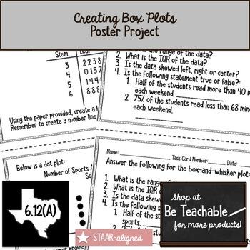 Creating Box Plots (STAAR Test Prep / 6.12A )