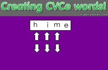 Creating CVCe words
