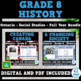 Grade 8 History - Ontario - Creating Canada & A Changing Society - 2 Unit Bundle
