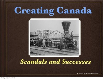 Creating Canada: Interactive Powerpoint (The Railway) *2014 Curriculum*