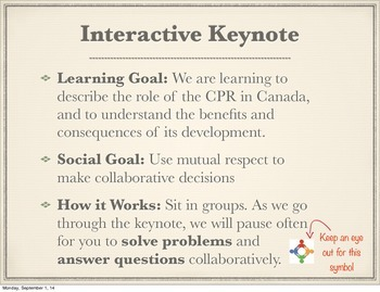 Creating Canada: Interactive Powerpoint (The Railway) *201
