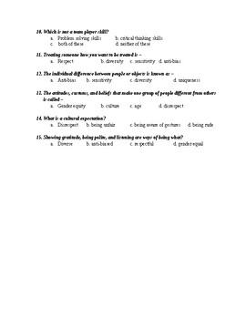 Creating Caring Relationships Quiz