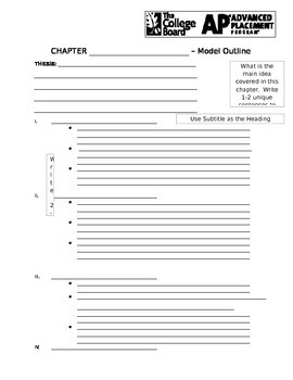 Creating Chapter Outlines - American Pageant [APUSH]