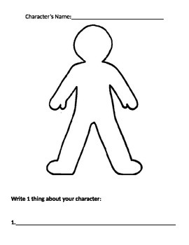 Creating Characters Graphic Organizer