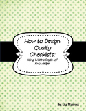 Creating Checklists for Students (Self-Directed Learning)