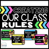 EDITABLE Class Rules: Creating Rules, Bulletin Board, & Rules Flip Book