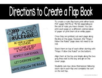 EDITABLE Class Rules: Creating Rules, Bulletin Board, & Rules Flip Book