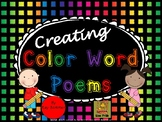 Creating Color Word Poems