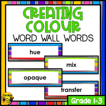 Color Word Wall Words- Editable