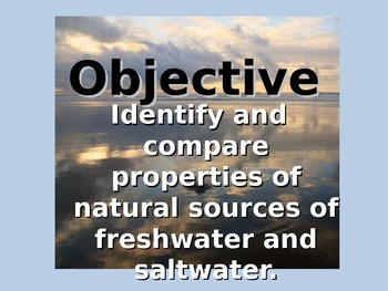 Creating, Comparing Freshwater and Saltwater