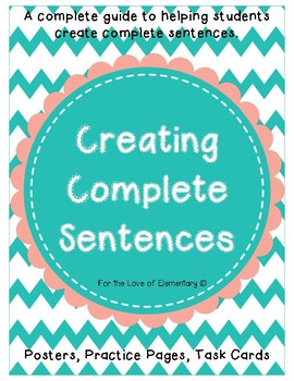 Creating Complete Sentences