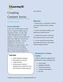 Creating Content - Audience Analysis