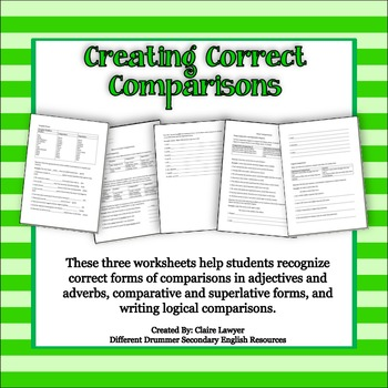 Creating Correct Comparisons Activity