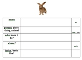 Creating Descriptive Sentences - Animals - Autism