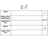 Creating Descriptive Sentences - Things - Autism