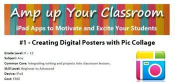 iPad: Digital Posters with Pic Collage