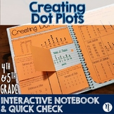 Creating Dot Plots Interactive Notebook Activity & Quick Check TEKS 4.9A & 5.9A