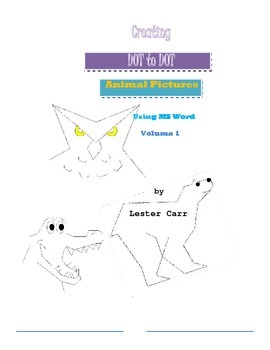 Creating Dot to Dot Animal Pictures using MS Word Vol. 1