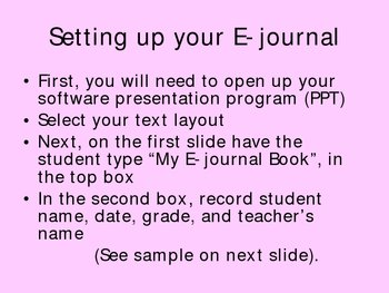 Creating E-journal for Kids (Let the Writing Begin!)