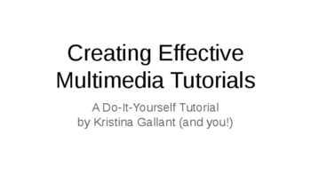 Creating Effective Multimedia Presentations in Google Slides: A DIY Tutorial