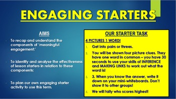 Creating Engaging Starters CPD Session!