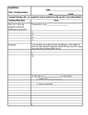 Creating Equations Cornell Notes
