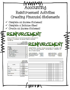 creating financial statements