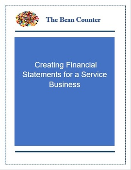 Creating Financial Statements for a Service Business