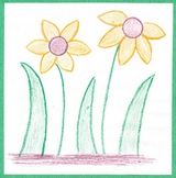 Creating Flowers – Elementary Art Project - Step-By-Step