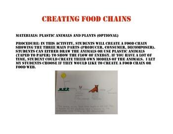 Creating Food Chains