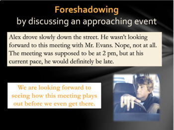 Creating Foreshadowing PowerPoint Lesson and Activity