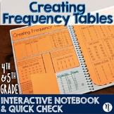 Creating Frequency Tables Interactive Notebook & Quick Check TEKS 4.9A & 5.9A