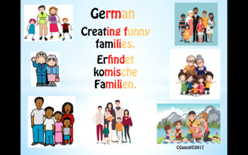 Creating Funny Families in German - fun for all the class!