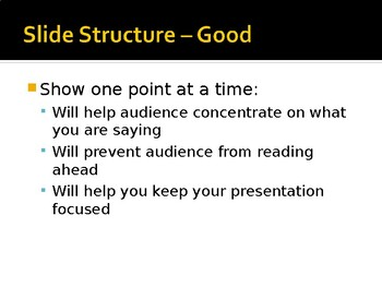 Creating Good/Bad PowerPoints
