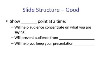 Creating Good/Bad PowerPoints Guided Notes