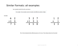 Creating Good Math Examples