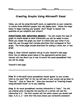 Creating Graphs Using Microsoft Excel