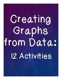 Creating Graphs from Data Sets - 12 Activities - Bar and Picture Graphs