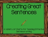 Creating Great Sentences Charts